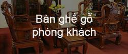 Banner bàn ghế gỗ phòng khách