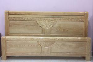 Giường ngủ gỗ Sồi giá rẻ 4