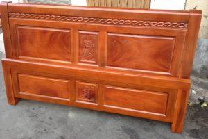 Giường ngủ gỗ Xà Cừ kiểu 2