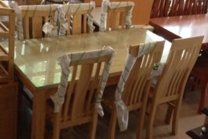 Bộ bàn ăn gỗ Sồi Nga 6 ghế