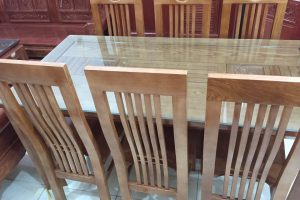Bộ bàn ăn 6 ghế gỗ Sồi Nga