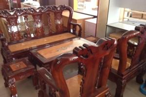 Bộ Salon gỗ Tràm mặt Gõ