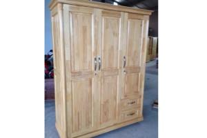 Tủ quần áo gỗ Thông 3 cánh 1M6