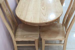 Bàn ăn gỗ thông 6 ghế