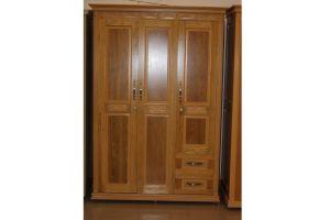 Tủ quần áo gỗ Sồi ghép 3 cánh