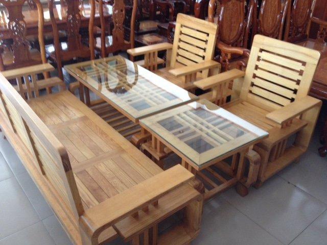 Bộ bàn ghế gỗ Sồi Nga GLS66