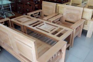 Bộ bàn ghế phòng khách gỗ Sồi Nga GLS67 giá rẻ