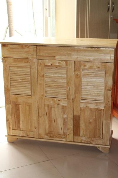 Tủ dép gỗ Cao Su màu tự nhiên