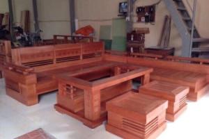 Bộ Salon góc gỗ Sồi 1