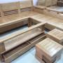 Bộ Salon góc gỗ Sồi 2