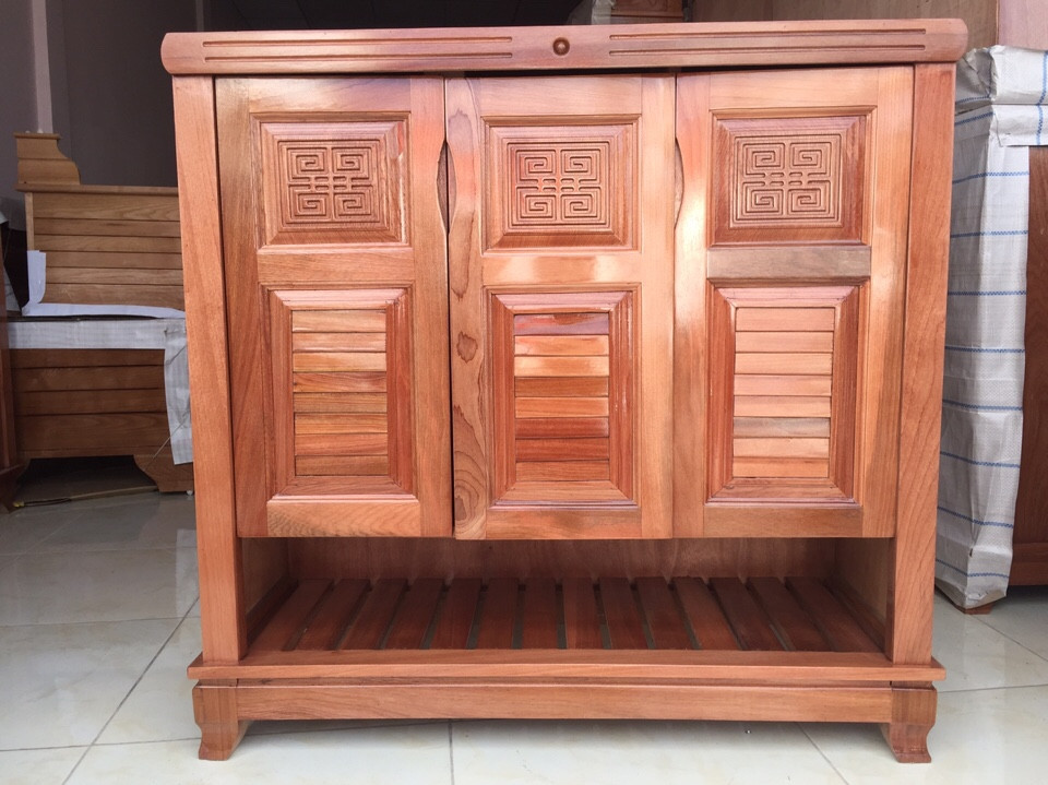 Tủ dép gỗ Xoan Đào 5