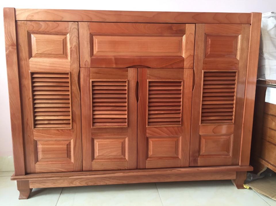 Tủ dép gỗ Xoan Đào 6