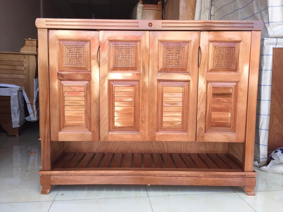 Tủ dép gỗ Xoan Đào 7