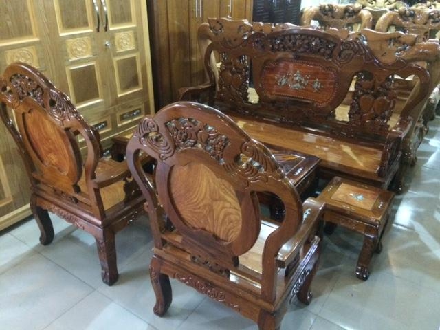 Bộ Salon gỗ Đào Tràm Gõ