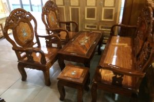 Bộ Salon gỗ Đào Tràm Xoan