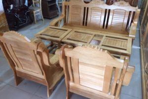 Bộ Salon Thiên Nga gỗ Sồi 1