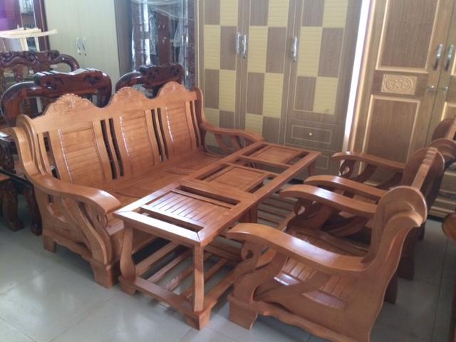 Bộ Salon Thiên Nga gỗ Sồi 2