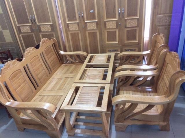 Bộ Salon Thiên Nga gỗ Sồi