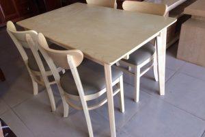 Bàn ăn gỗ Cao Su 4 ghế 1