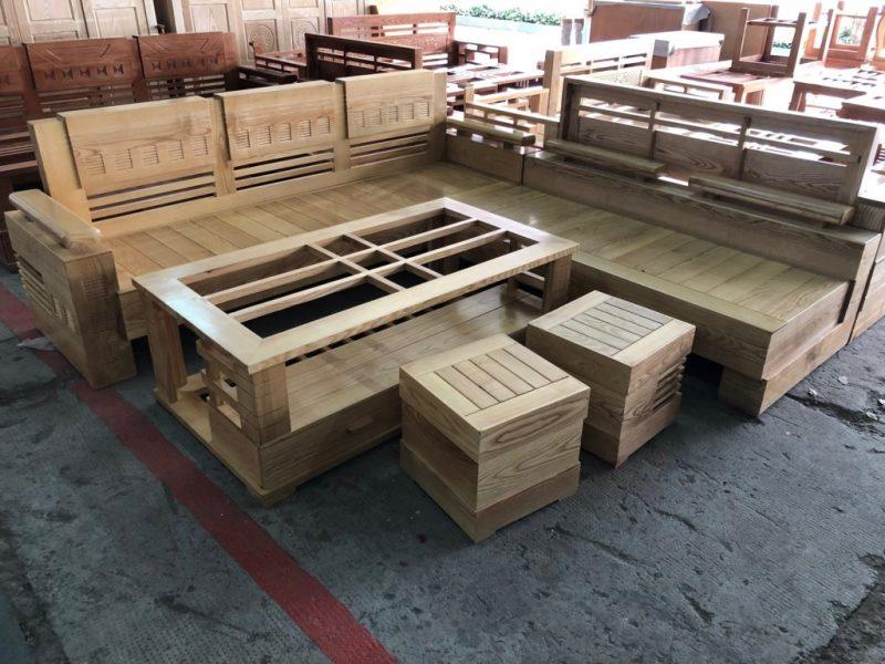 Bộ Salon gỗ Sồi góc SLGSG 1