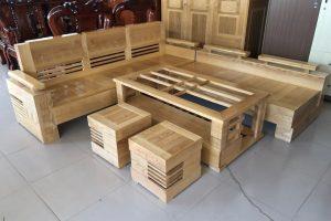 Bộ Salon gỗ Sồi góc SLGSG1