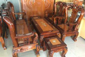 Bộ Salon gỗ Tràm Gõ tay 10 1