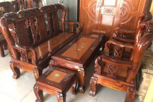 Bộ Salon gỗ Tràm Gõ tay 10
