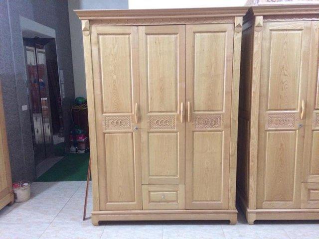 Tủ quần áo gỗ Sồi Nga thanh lý